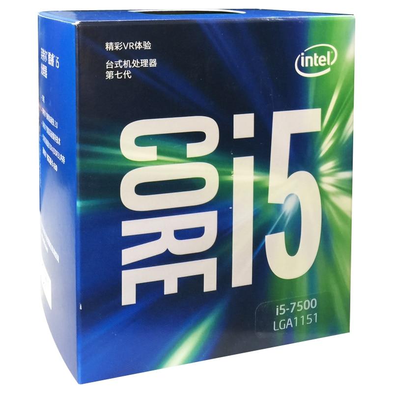 все цены на Intel Core 6 series Processor I5 7500 I5-7500 Boxed processor CPU LGA 1151-land FC-LGA 14 nanometers Quad-Core cpu онлайн