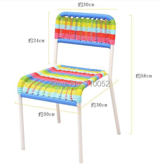 freeshipping pe rattan colored childrens chair baby less than 50kgschair kindergarten chair color baby furniture for less
