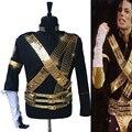 Редкие MJ Майкл Джексон Классический JAM Jacket & Металл Полный набор Пуля Панк Точно Такие Же Высокая Коллекция Хэллоуин Костюмированное Шоу подарок
