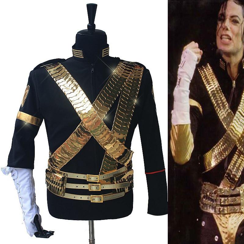 Редкий MJ Майкл Джексон Классический Джем куртка и металл полный комплект пуля панк точно такая же Высокая коллекция Хэллоуин костюм Показать подарок