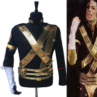 Rare MJ Michael Jackson Classic JAM Jacket & Metal Full Set Bullet Punk Exactly Same High Collection Halloween Costume Show Gift
