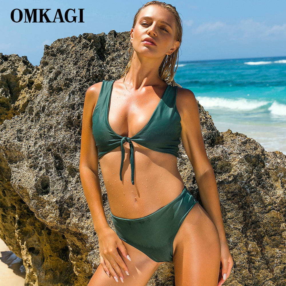 OMKAGI Brand Swimwear Women Swimsuit Sexy Push Up Bandage Bikinis Set Swimming Bathing Suit Beachwear Brazilian Bikini 2017 News bikini 2017 bandage bikinis set push up swimwear women swimsuit sexy red floral bathing suit women biquin dress