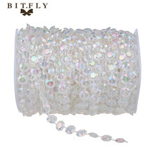 AB 10mm *30 Meters Glass Crystal Beads Curtain Living Room Passage Window Door Crystal Curtain Wedding Party Backdrop(China)