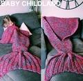 Шерсть трикотажные детские русалка одеяло взрослых Русалка Хвост одеяло Ручной Бросок Одеяло супер мягкие детские пеленальный спящая одеяло