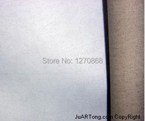 1 70m 100 linen blend primed blank painting canvas with high quality 10m one roll