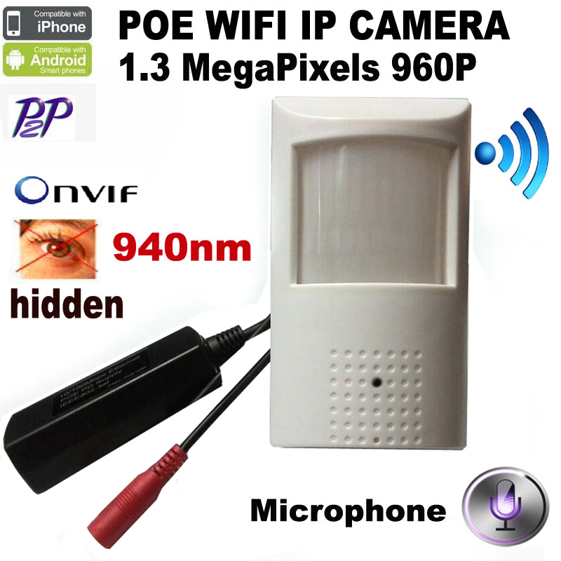 HQCAM 960P Wifi IR-CUT POE PIR Style Motion Detector WIFI Camera ONVIF 940nm Night Vision camera P2P Mini WIFI POE IP Camera hqcam 1080p poe pir style motion detector wifi camera onvif 48pcs 940nm ir cut night vision p2p mini wifi poe ip camera page 2