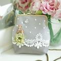 Designer Deer Flower Lace Lolita Style Clutch Bag Women Casual Metal Day Clutches Shoulder Crossbody Purses & Handbags Bag Birds
