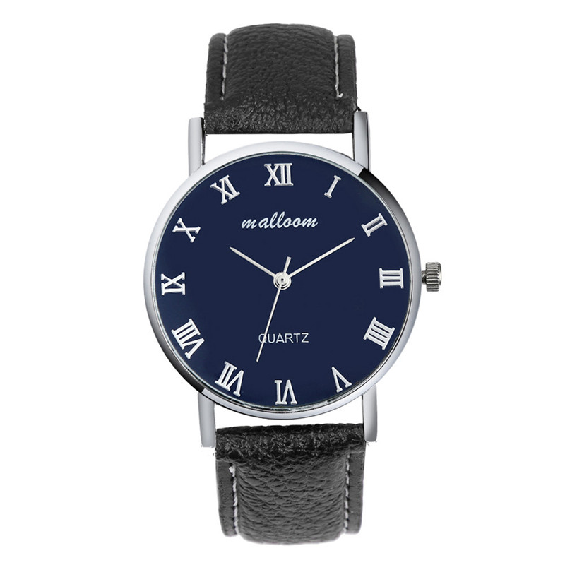 Luxury Dress Fashion Business Style Stainless Steel Case Leather Strap Mens Analog Saat Quartz  Watch Watches Montre Homme fashion casual quartz watch for men oversize stainless steel case leather strap simple analog dial reloj hombre montre homme