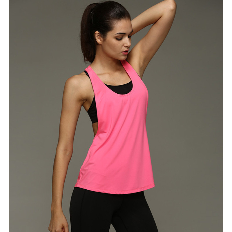 New Womens Sleeveless Vest Dry Quick Loose Backless Top