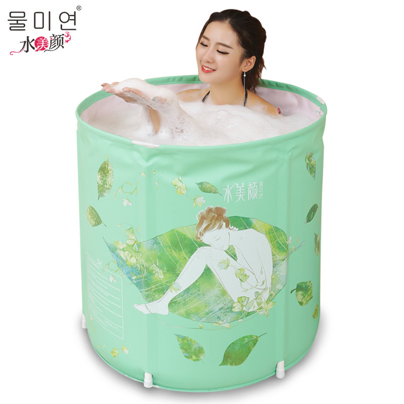 Factory sales 70*70cm high quality PVC inflatable bathtub Bath barrels for adult/child Easy install Durable health material