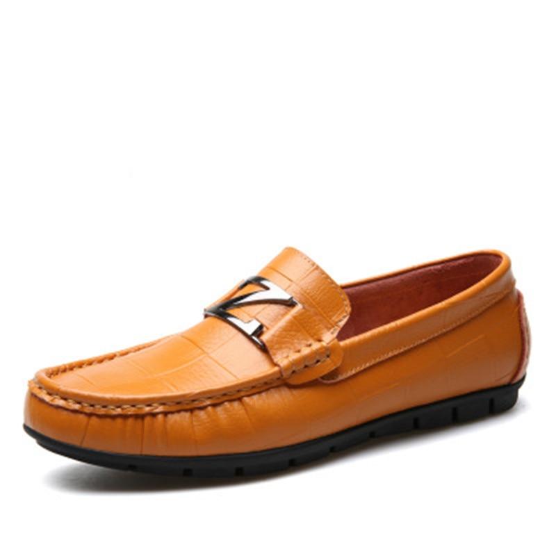 En De Occasionnels Hommes Bateau Mens Sur Mocassin Chaussures Mocassins Des Conduite Homme Glissement Brown Cuir yellow Véritable Black YntEwqYr