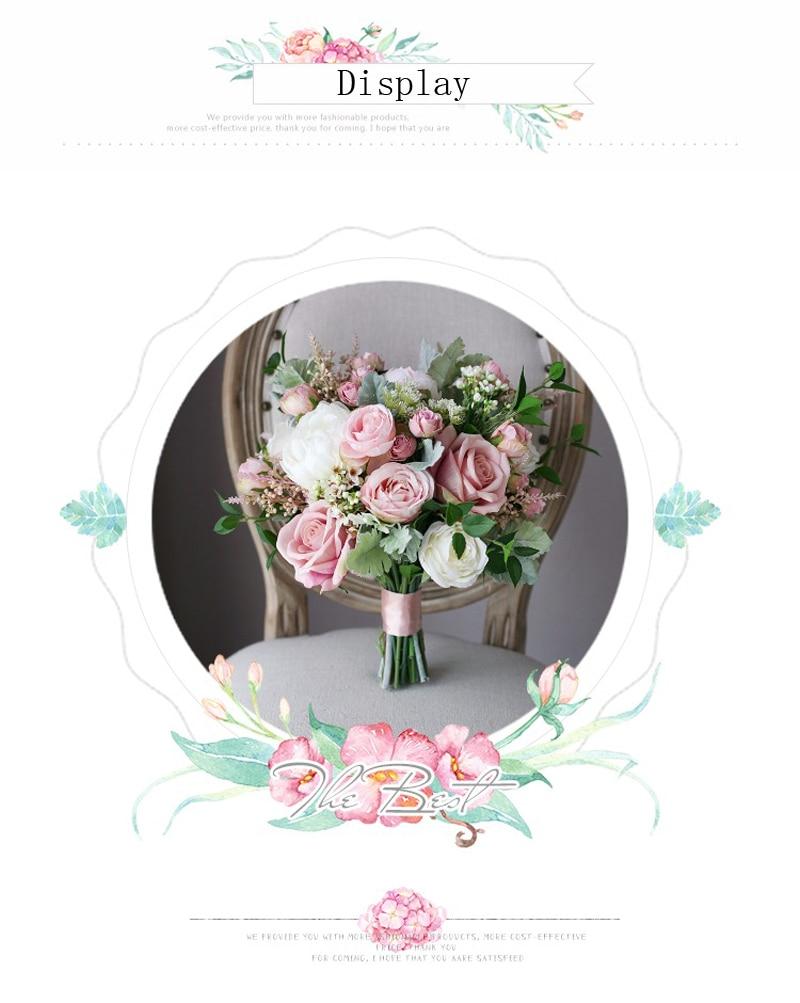 3.3  Classic Smoked Pink Bridal Bouquets 2018 New Elegant Synthetic Holding Flower Bridal  Nation Seashore Wedding ceremony Provides HTB1nbMqnsyYBuNkSnfoq6AWgVXad
