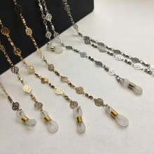 silver plated eyeglass brass flake chains