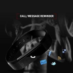 Image 5 - Bluetooth スマート歩数計睡眠トラッカーためケットボールリストバンドスポーツフィットネストラッカー腕章コールリマインダリモコンソーシャルメディア