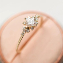 hot deal buy sunmall 2018 new design trendy  hot sale  gold color rings  zircon wedding rings for women super shinny girl rings gift
