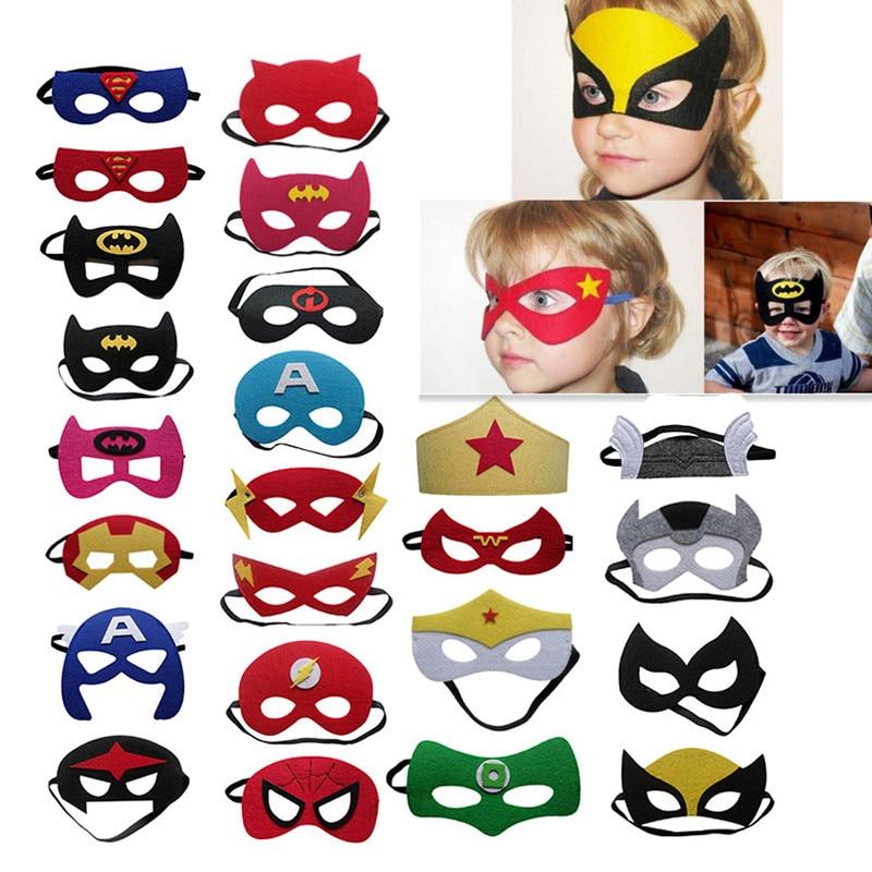 Super Hero Felt Eye Masks Birthday Home Party Favors Dress Up Cosplay Kids Gift