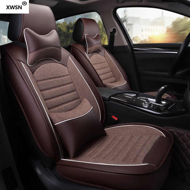 Kulit Linen Kursi Mobil Penutup untuk VW Passat B6 VW Polo Sedan Golf Touran Tiguan Jetta Semua Model Aksesoris Mobil