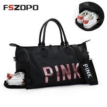 Outdoor Women Pink Sport Bag Training Gym Bag Women s Sports Handbags  Fitness Bag Travel Multi- 19db60075af66