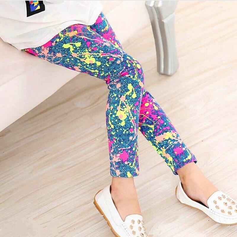 2017 Spring Summer Kids Legging Retro Fashion Children Floral Pants Girls Leggings Casual Girl Pants Kids Baby Trousers