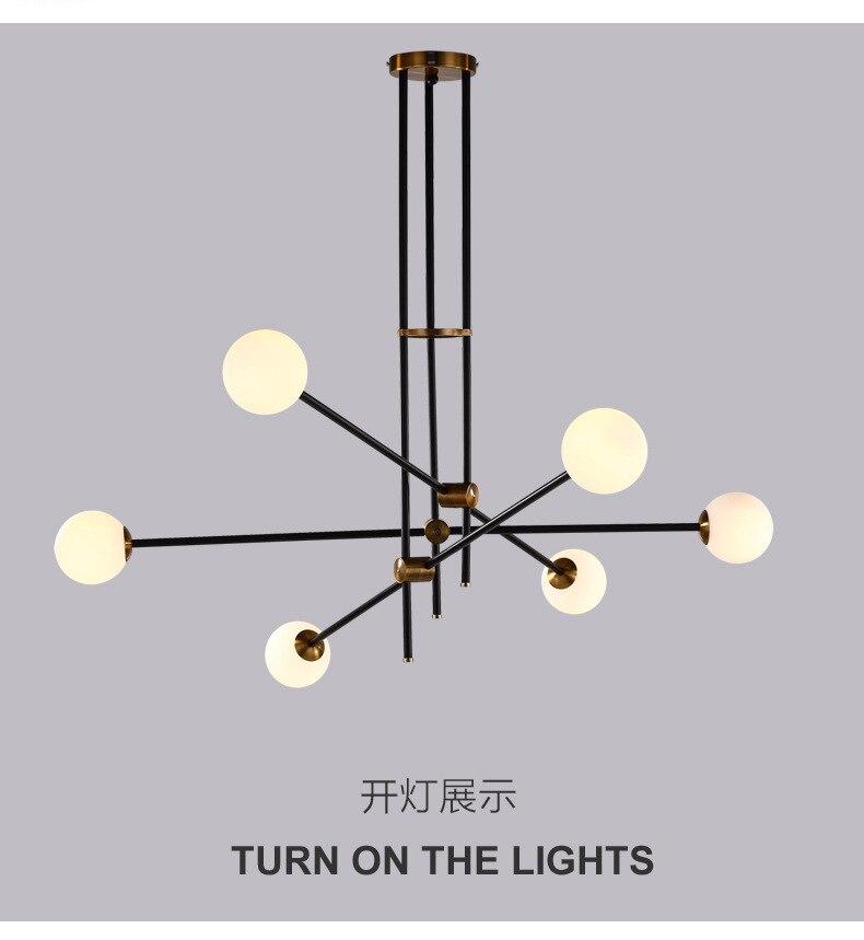 Постмодерн Волшебные фасоли лампы подвесные светильники Скандинавский современный короткий ДНК лампа креативный Железный стеклянный под...