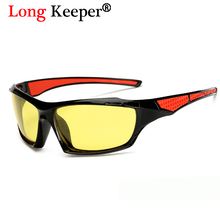 Yellow Night Vision Polarized Sunglasses For Men Driving Safety High Definition Unisex Sun Glasses Square Eyewear By Long Keeper