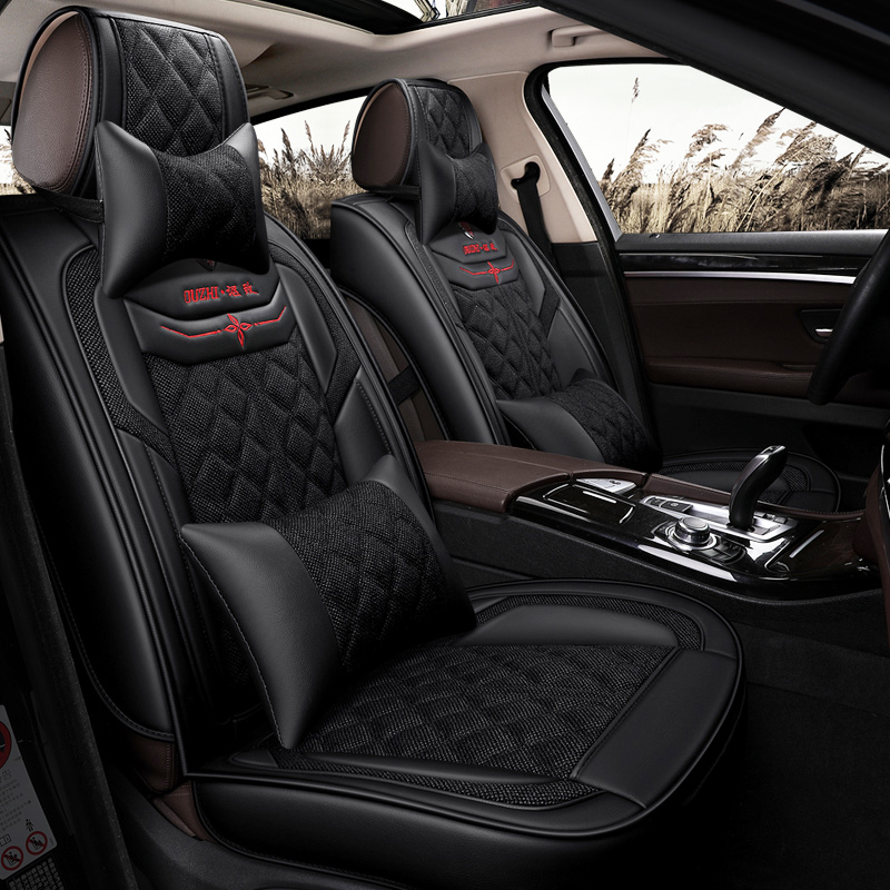 Brand Car Seat Luxury Leather Car Seat Universal Seat