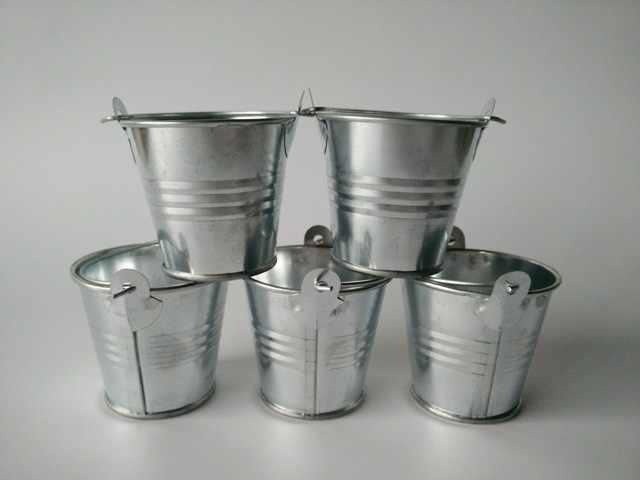 30Pcs/Lot D5.5*H5CM Mini Metal Buckets tin pots Small Pails Mini ...