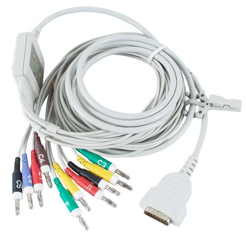 Nouveauté 10 fils ECG EKG câble pour GE Marquette pour 500, 1200 AHA