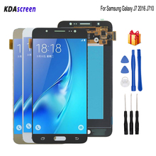 Original para samsung galaxy j7 2016 j710 display lcd tela de toque para samsung j710 display lcd j710f amoled peças do telefone