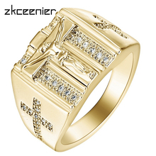 Cross-Ring Jewelry-Accessories White Prayer Gifts Wedding Christian Zirconia for Punk