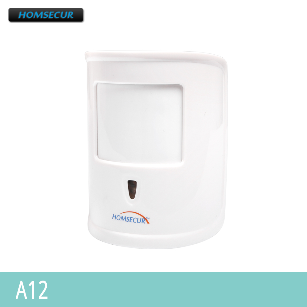 HOMSECUR A12 433MHz Wireless Pet Immune PIR Infrared Motion Sensor For Our Alarm System