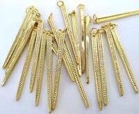 12 sztuk Złota Pin Micro Pave Diament Złącza 35