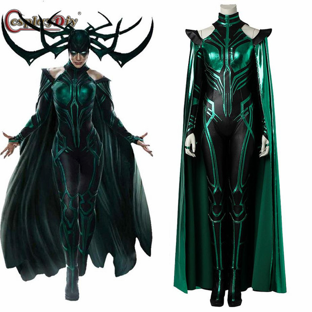 Cosplaydiy Thor 3 Ragnarok Trailer Hela Cosplay Costume Outfit Sexy