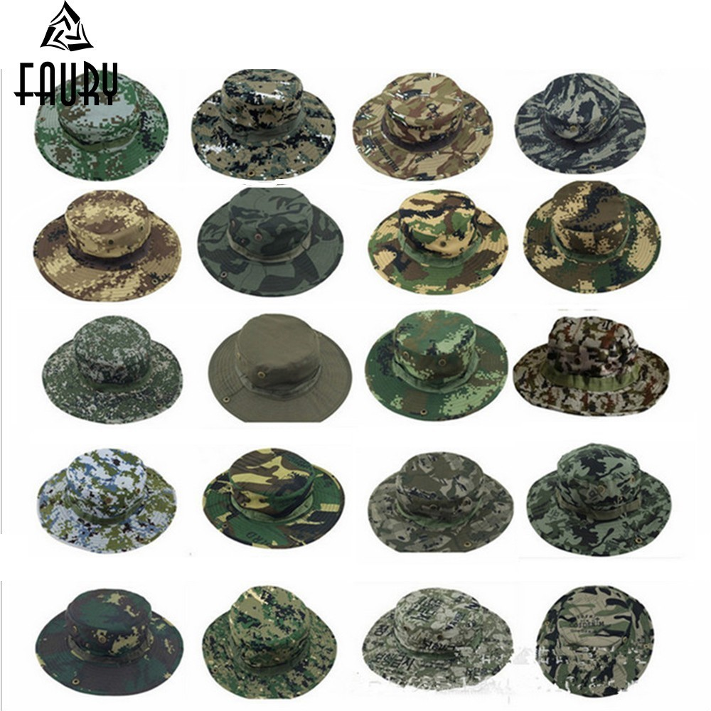 Outdoors Hunter Military Camouflage Cap Hat Male Round Edge Sun Proof Fishing Tactical Army Militar Softair Roupas Masculinas