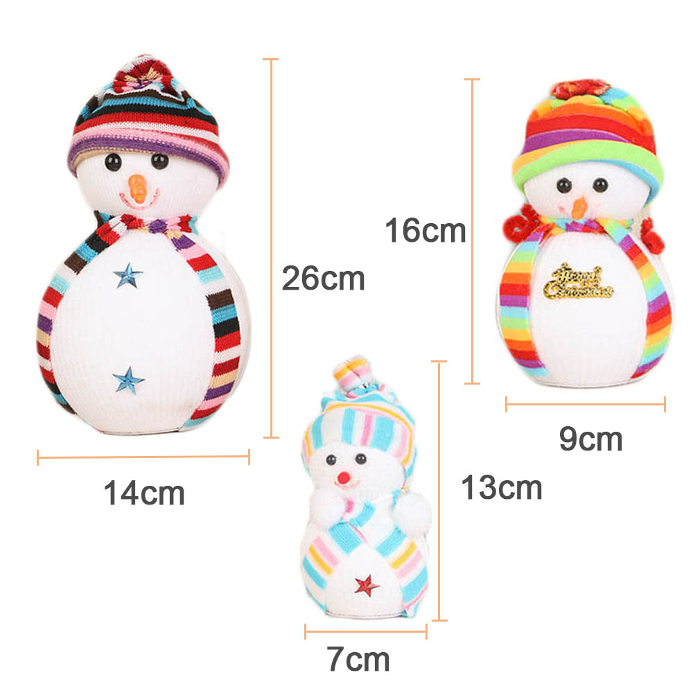 1 pcs cute christmas snow doll bubble snowman christmas tree decoration ornaments doll toys christmas gifts 3 size in dolls from toys hobbies on