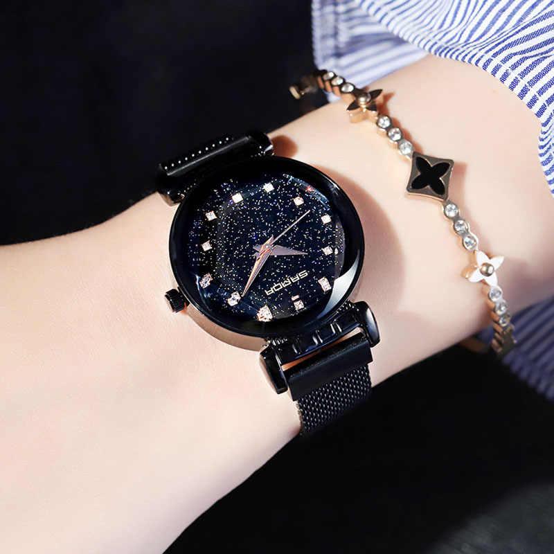 2019 Fashion Bracelet Women Watches Stainless Steel Rhinestones Ladies Girl Quartz Watch Rose Gold Luxury Clock relogio feminino