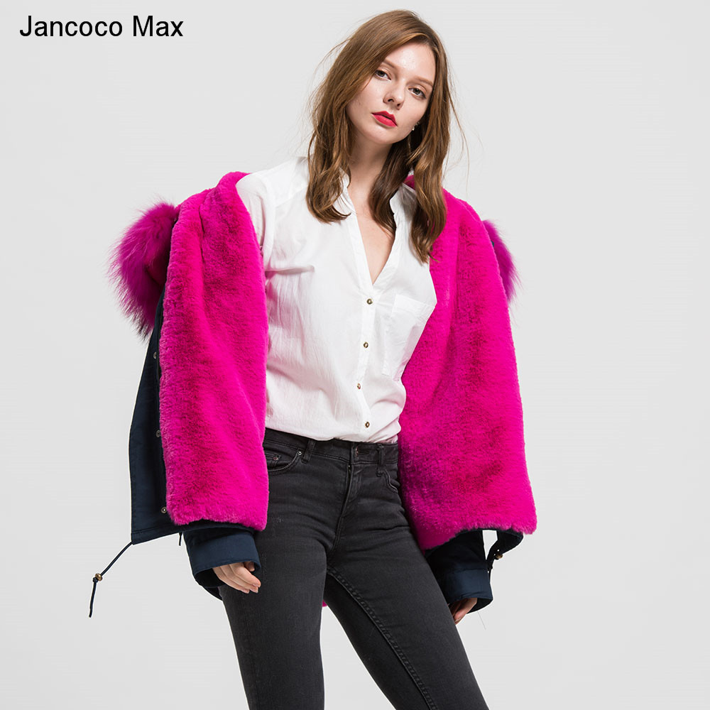 Version Pull Raton Blue 2019 Max Grey Black Veste Fur S1722 Fourrure Doublé Laveur Jancoco Parka Rose Capuche White And Chaud Grand De À Amovible Col Navy Pink Fur Parker Véritable Natural Hiver navy qXOx5nAfTw