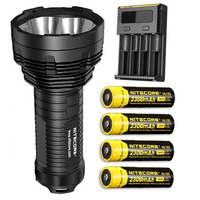 NITECORE TM16GT Flashlight 4*CREE XP L HI V3 LEDs 3600LM beam distance 1003 meter torch with  2300mah Battrey and i4|Flashlights & Torches| |  -