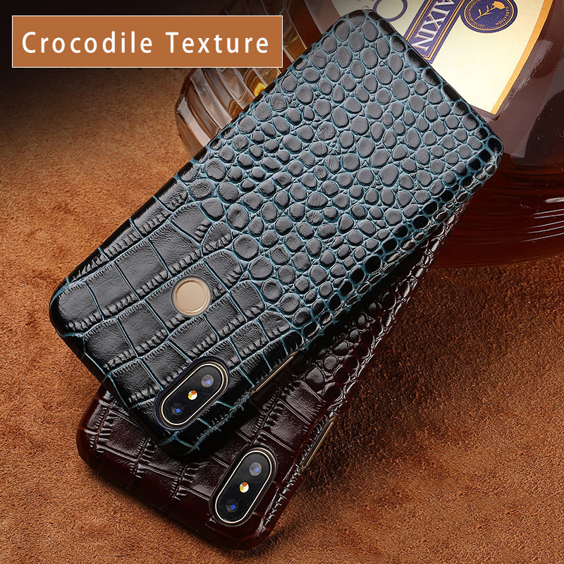 Phone case For Xiaomi Mi 5 6 8 A1 A2 Max 2 3 Mix 2S Case Crocodile Texure Cover For Redmi Note 4 4A 4X 4Pro 5 5A Plus