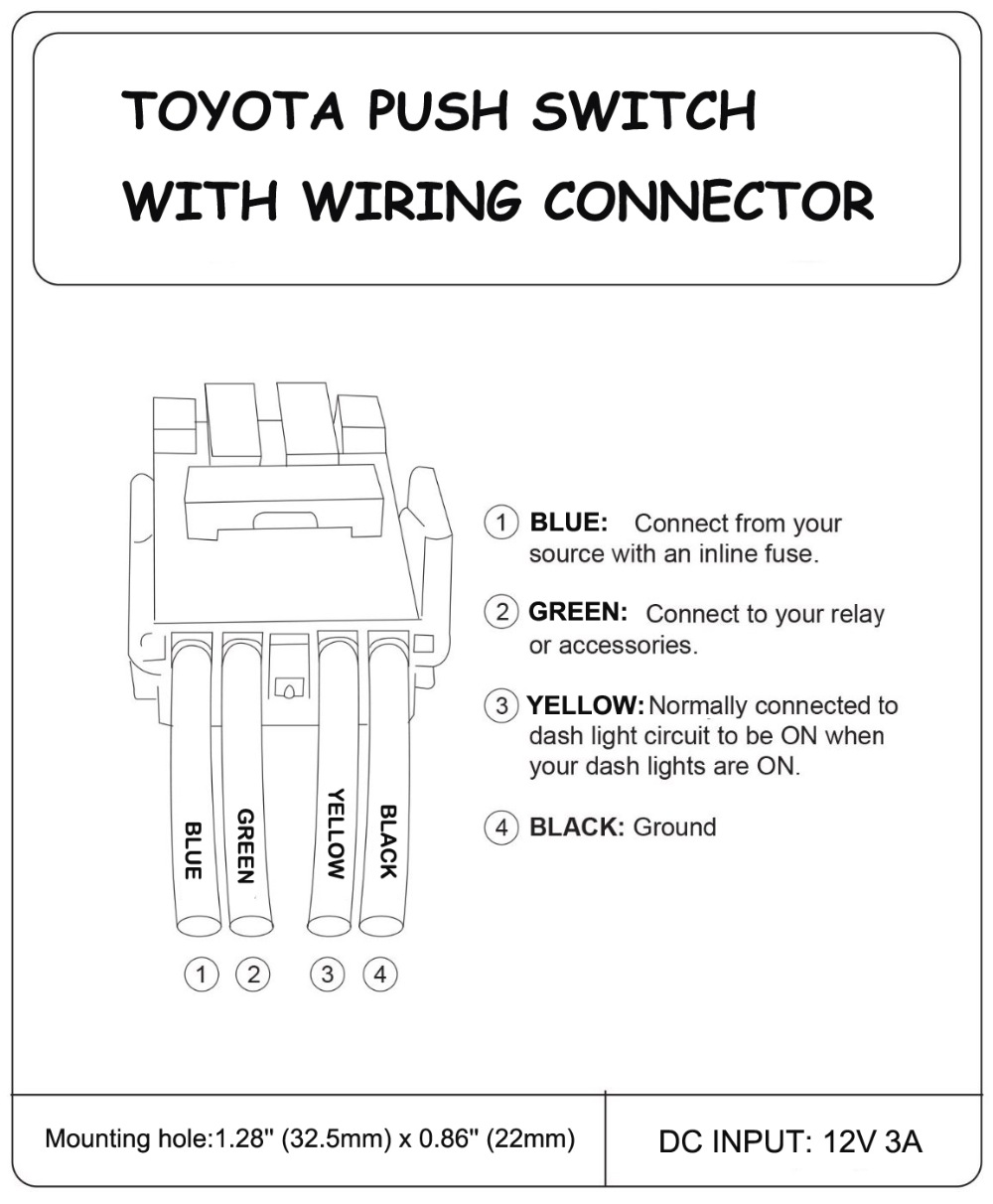 Led Switch Wiring Diagram For Winch Kit Warn 8274 Momentary Aliexpresscom Buy Power Push On Car Off 12