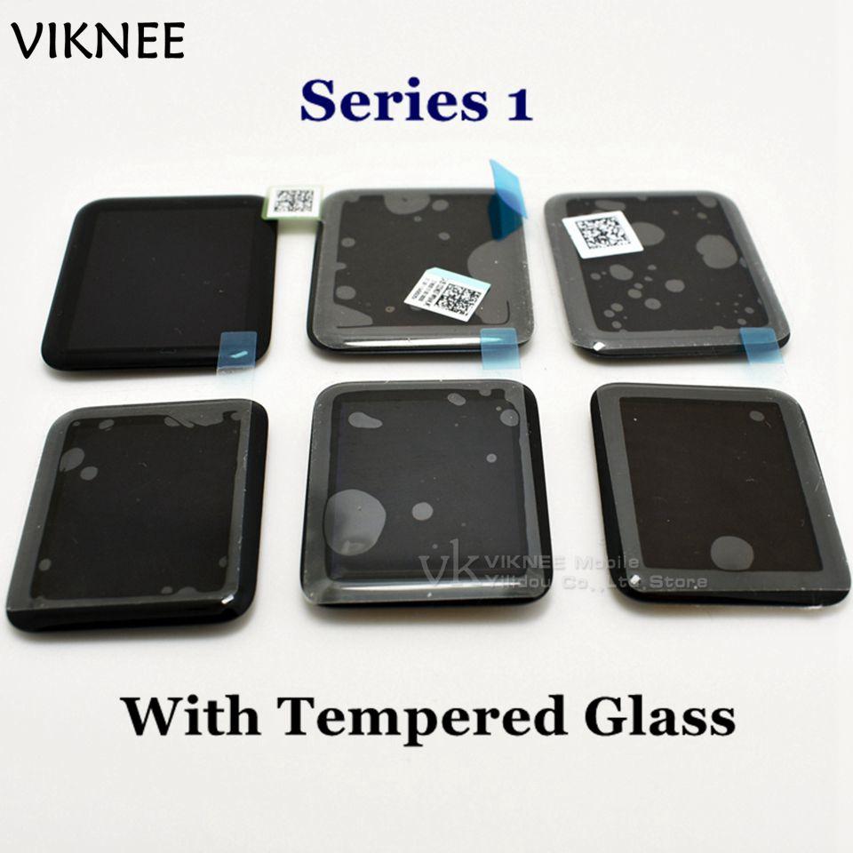 imágenes para Para Apple Reloj LCD Con Pantalla Táctil Digitalizador Asamblea Series1 38mm 42mm Deporte/Zafiro Con Adhesivo + Vidrio templado