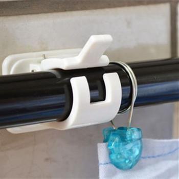 1 zestaw samoprzylepne karnisze prysznicowe wieszak na ręczniki haczyki zaciski zasłony zorganizowany stojak do przechowywania poręczy tanie i dobre opinie Halojaju Wsporniki do prętów Okno-dressing sprzętu Bathroom supplies Z tworzywa sztucznego wall shelf Organized storage rack