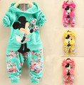 2016 new fashion girl pure cotton set of cute baby set  free shipping