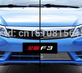 Car front bumper Mesh Grille Around Trim Racing Grills 2013-2016for BYD F3  Quality Stainless steel abs chrome front grille around trim racing grills trim for 2013 hyundai santa fe ix45