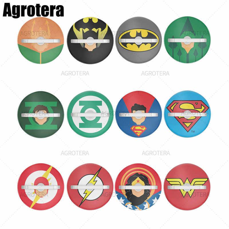 Agrotera حامل هاتف 360 دوران حامل حلقي قبضة سنادات بالسيارة للهواتف الذكية والأجهزة اللوحية Aquaman باتمان الأخضر السهم فانوس