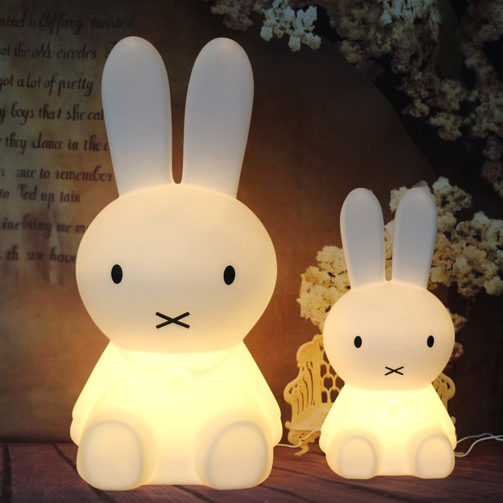 28cm Rabbit for miffy lights Dimmable night warm white night lights baby Bedroom lamp home deco bulb for children kids gift livewin warm white led night light cute night lamps for baby children kids gift bedroom bedside home decor dimmable lamparas