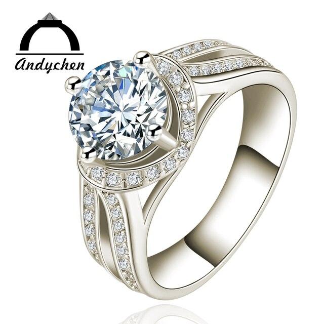 andychen blanc or couleur de luxe bijoux en cristal bague. Black Bedroom Furniture Sets. Home Design Ideas