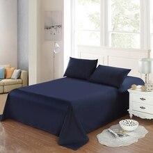 1 шт., хлопок, чистый цвет, постельные принадлежности, простыня, покрывало, простыня для гостинной/отеля, наматрасник, домашний текстиль