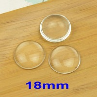 Free Shipping 100pcs 16mm 18mm Clear Domed Magnifying Round Half Ball Glass Cabochons Photo Jewelry Pendant