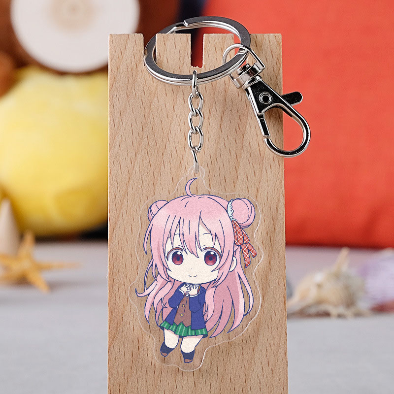 Anime Happy Sugar Life Keychain Double-Side Transparent Key Ring